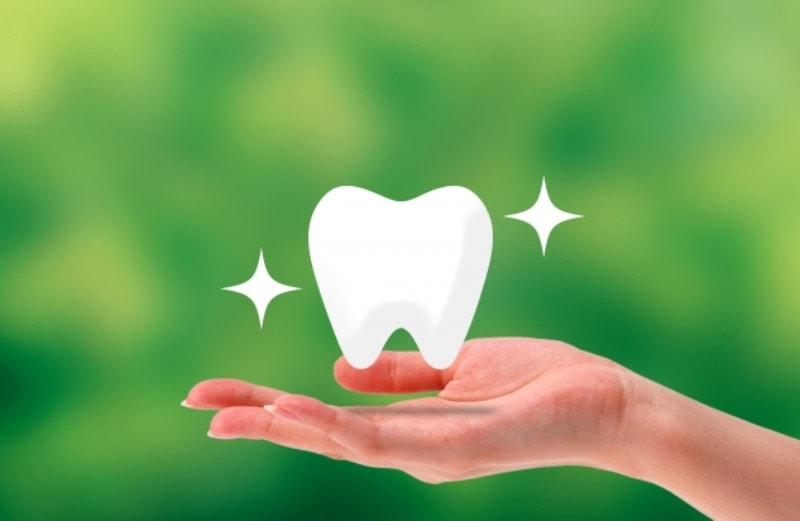 矯正治療で綺麗な歯並びになったイメージ